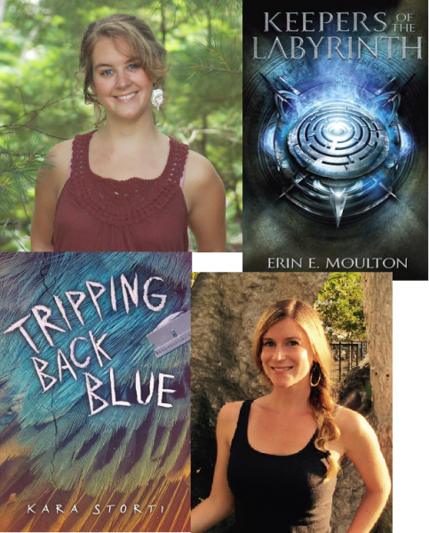 Erin Moulton, Keepers of the Labyrinth, and Kara Storti, Tripping Back Blue